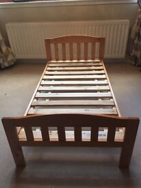 Mothercare pine toddler bed (with matress)