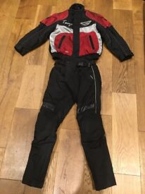 Childrens/Small Women's Textile Motorbike Jacket and Trousers (XXS & XS)