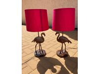 Pair of lamps - flamingo
