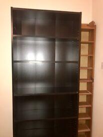 Large black bookshelf - Bargain at £10 for quick sale!