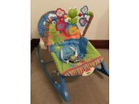 Portable Fisher Price Rocker Chair with soothing vibration