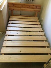 Warren Evans Apple Small Double (4' x 6') Bed in Beech Satin Finish & Mattress