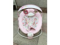 Pink musical/vibrating bounces chair