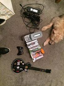 Xbox 17 games Kinect and guitar hero