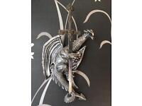 Wall mounted dragon letter opener