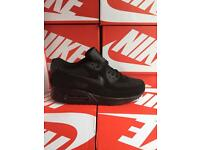 FULL BLACK WHOLESALE NIKE TRAINERS AIR MAX 90