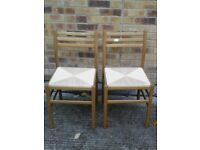 2 Ratten Wooden Chairs