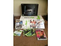 NINTENDO WII AND WII FIT + GAMES