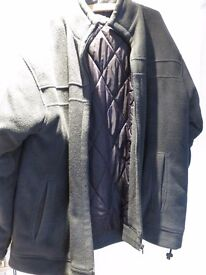 Mens Edinborough Wool fleece padded casual jacket size large