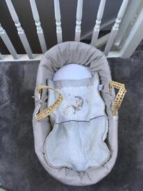 Claire de lune Moses basket and accessories
