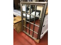 NEW Large silver window mirror W95xH130cm Only £149 Pic 1