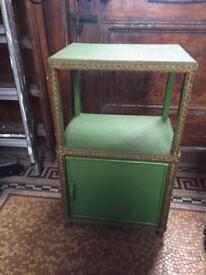 Vintage Retro 1950s Llyod Loom bedside cabinet