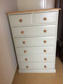 TOP QUALITY SOLID PINE CHEST OF 2 OVER 5 DRAWERS