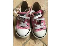 Pink Converse Size 6. Used