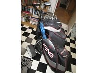 Electric Golf Trolly and Clubs