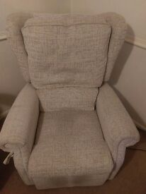 2 year old remote controlled riser recliner chair in beige Hardly used so in immaculate condition.