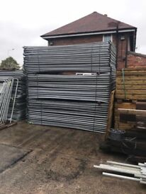 Used banded packs of 50 + 30 round top heras fencing