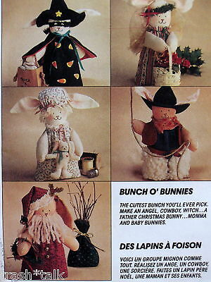 Cowboy Halloween Costume Patterns (Christmas Bunny ornament pattern Santa Witch costume Halloween cowboy 7