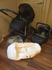 Silver cross pram and car seat (travel system)