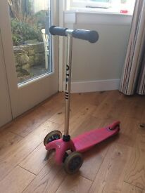 Pink mini micro scooter - very good condition