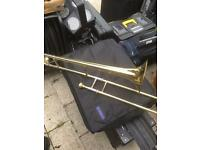 Brass coloured trombone. NOW SOLD THANK YOU