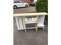 Ikea over desk shelf unit.