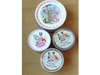 4 Vintage quality street sweet tins