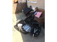 icandy i candy peach 3 jet black pram pushchair