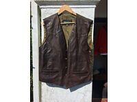 Men's Designer leather waistcoat