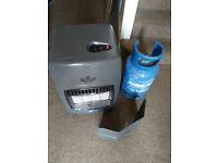 Gas heater & empty Calor bottle
