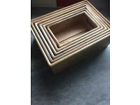 Wooden storage boxes set of 6
