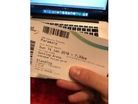 Paramore Tickets (2 x Standing) Birmingham Genting Arena Sunday 14th January