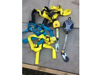 Latchways fall protection harness