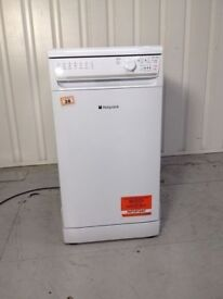 **HOTPOINT**SLIMLINE DISHWASHER**45CM**ENERGY RATING: A+**COLLECTION\DELIVERY**ONLY 1 YEAR OLD**