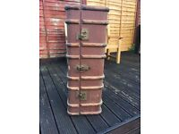 Wooden Banded Steamer Trunk