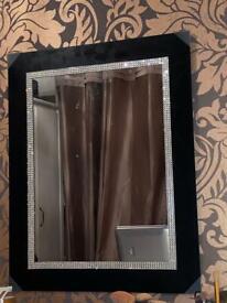 Black Diamanté Vanity Mirror