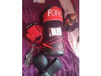 Boxing bag set
