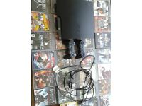 PS3 CONSOLE - 32 GAMES INCLUDED - 2 CONTROLLERS - CHEAP (READ DESC)