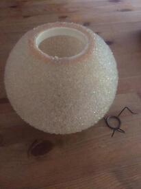 'sea urchin' style vintage lampshade
