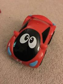 Chicco turbo one touch red car