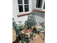 Traditional cast iron four seater bistro set