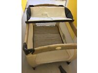 Graco Contour Electra and bassinet travel cot