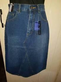 Miss C denim skirt
