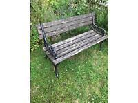 Cast iron/ wooden bench