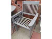 GONE PENDING COLLECTION Free wooden garden table and chairs