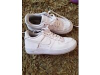Girls nike air force 1s size 13