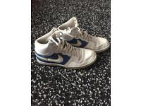 Nike dunks size 6.5 limited edition white and blue