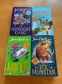4 David Walliams hardback books