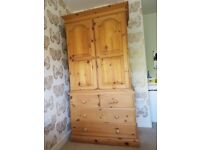 Large Pine Wardrobe+chest of drawers combo