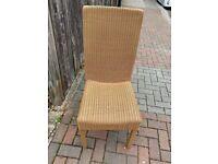 Original vintage Lloyd Loom dining chairs x 6